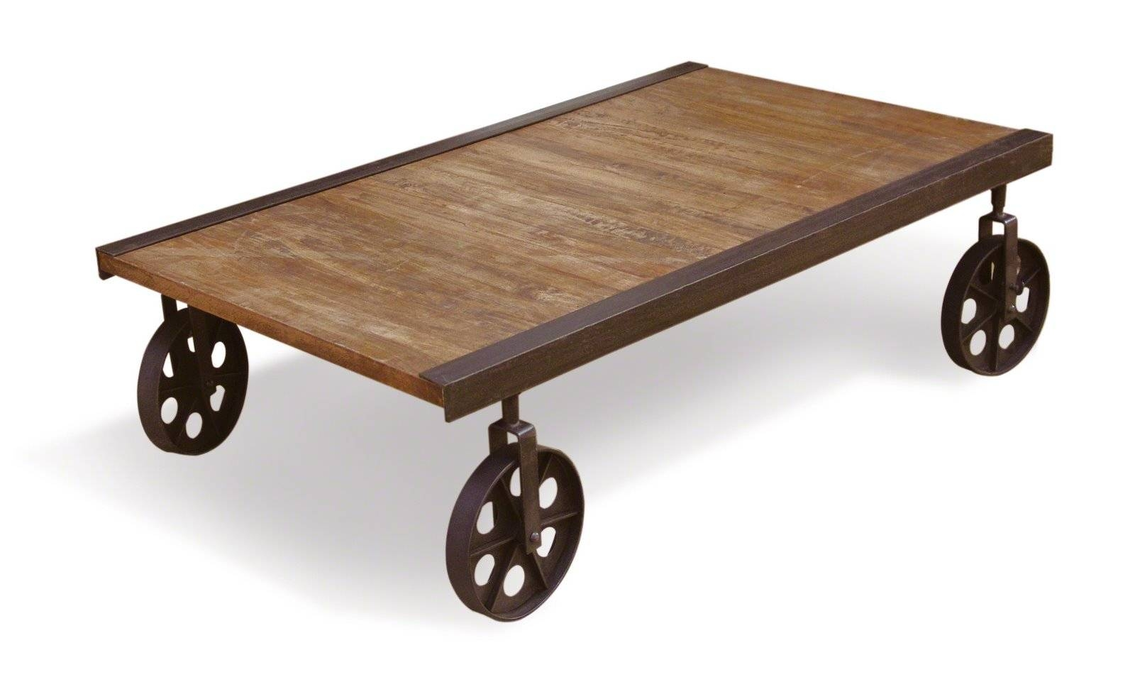 Make A Rustic Coffee Table With Wheels regarding Rustic Coffee Table With Wheels (Image 21 of 30)