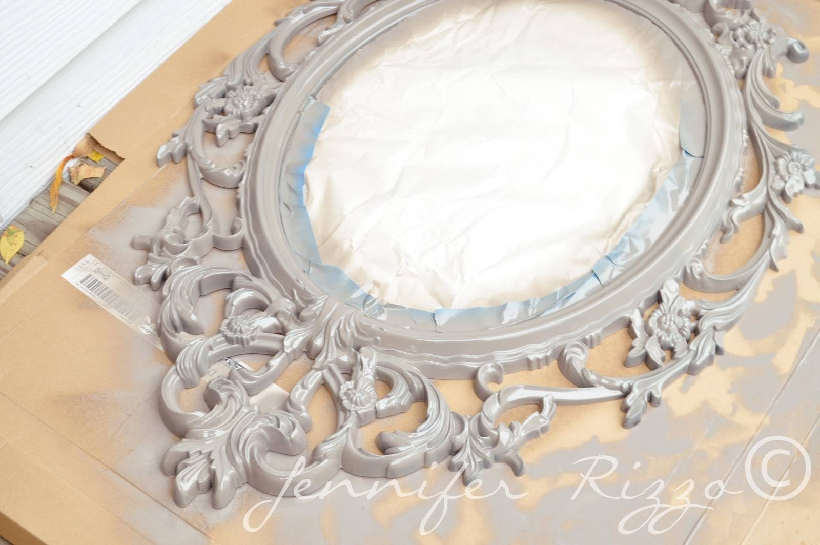 Make A Vintage-Inspired Halloween Mirror. - Jennifer Rizzo with regard to Grey Vintage Mirrors (Image 18 of 25)