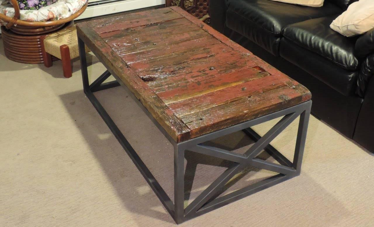 Making A Reclaimed Barnwood Coffee Table - Youtube for Rustic Barnwood Coffee Tables (Image 19 of 30)