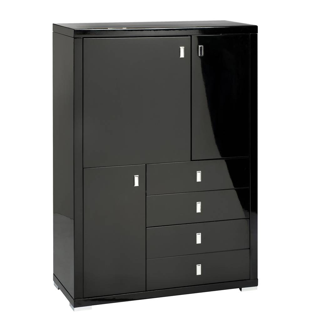 Malone Upright Sideboard Black - Dwell pertaining to Black Gloss Sideboards (Image 19 of 30)