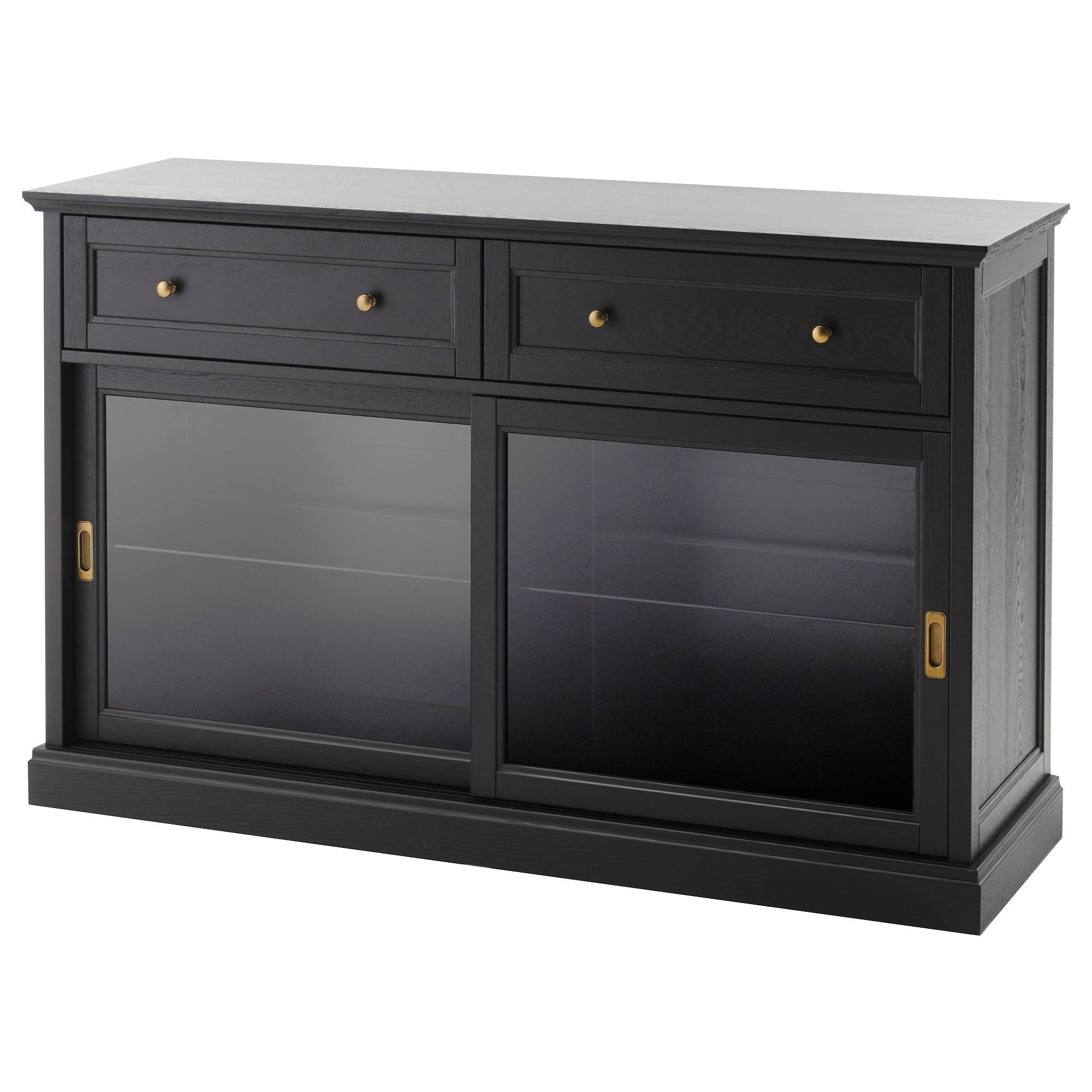 Malsjö Sideboard Basic Unit Black Stained 145X92 Cm - Ikea for Small Black Sideboards (Image 11 of 30)