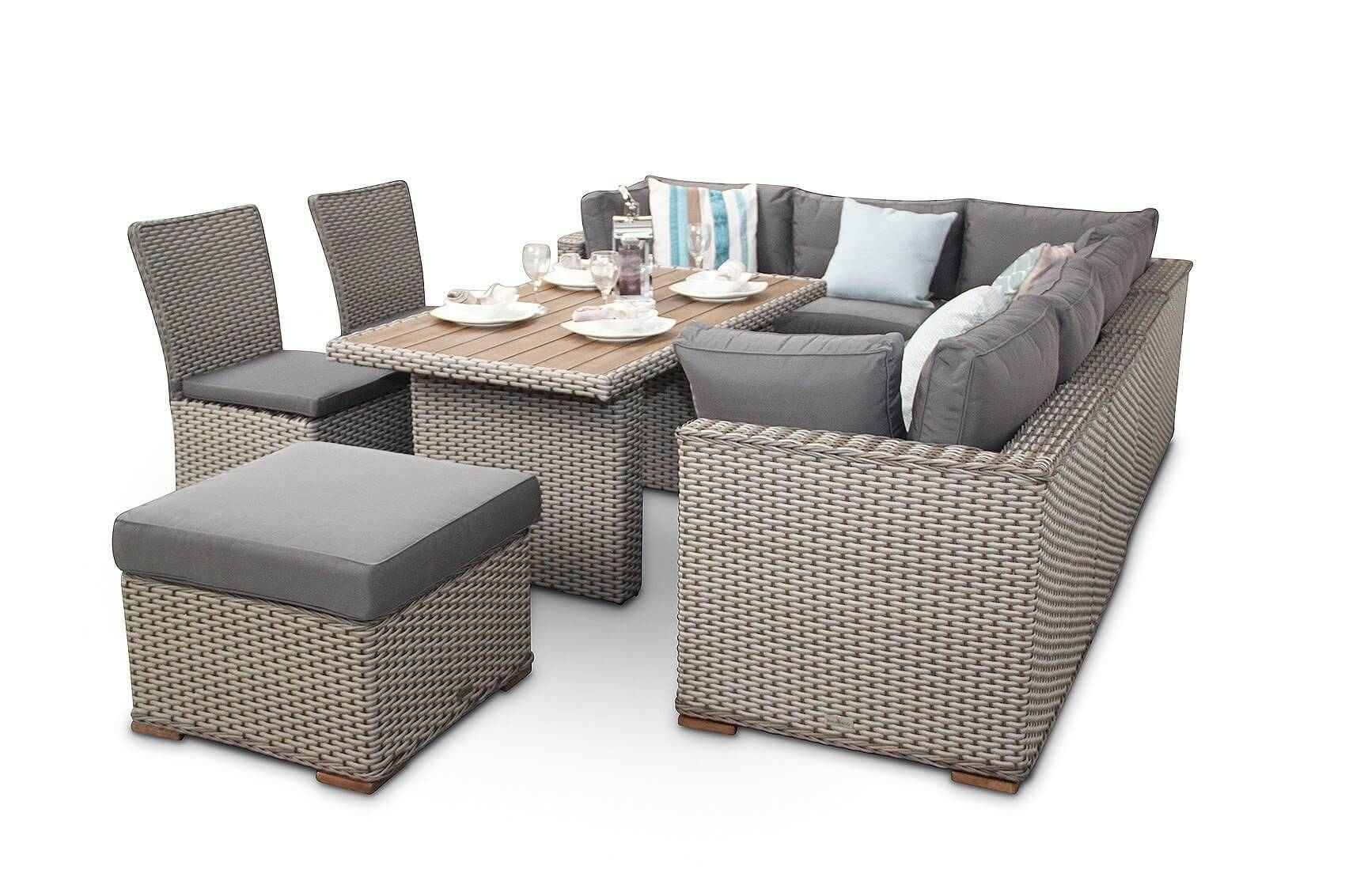 Manchester 10Pc Modular Rattan Sofa Dining Corner Sofa Set With in Corner Sofa Chairs (Image 21 of 30)