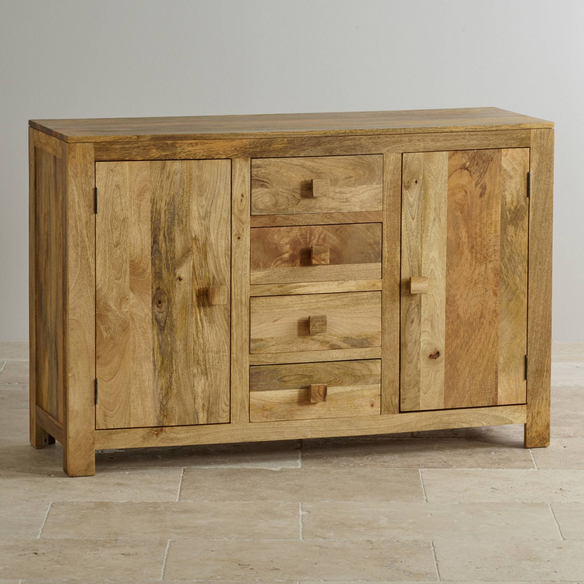 Mantis Light Large Sideboard In Natural Solid Mango within Light Wood Sideboards (Image 13 of 30)