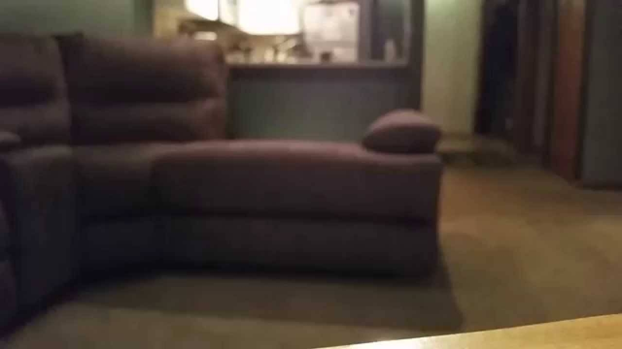 Manwah Liam 6 Pc Sectional Sofa – Youtube Within Jedd Fabric Reclining Sectional Sofa (Image 24 of 30)