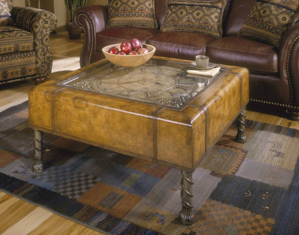 Map Coffee Table with Coffee Tables With Clock Top (Image 25 of 30)