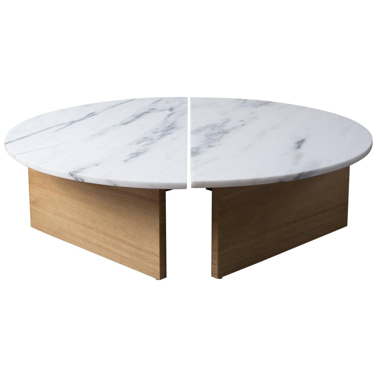 Marble Coffee And Cocktail Tables - 784 For Sale At 1Stdibs pertaining to Half Circle Coffee Tables (Image 23 of 30)