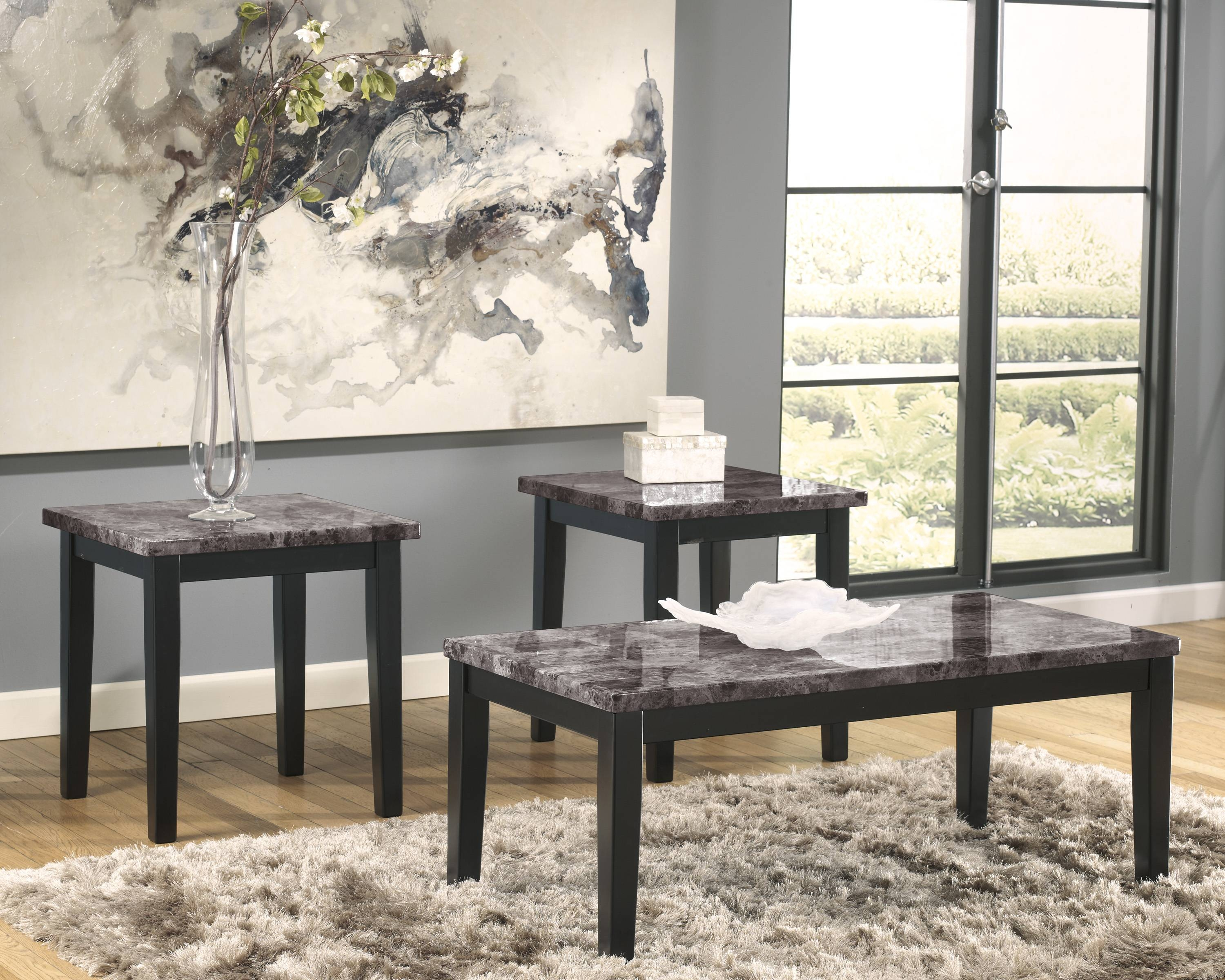 Marble-Stone-Top-Coffee-And-End-Tables with Grey Coffee Table Sets (Image 26 of 30)