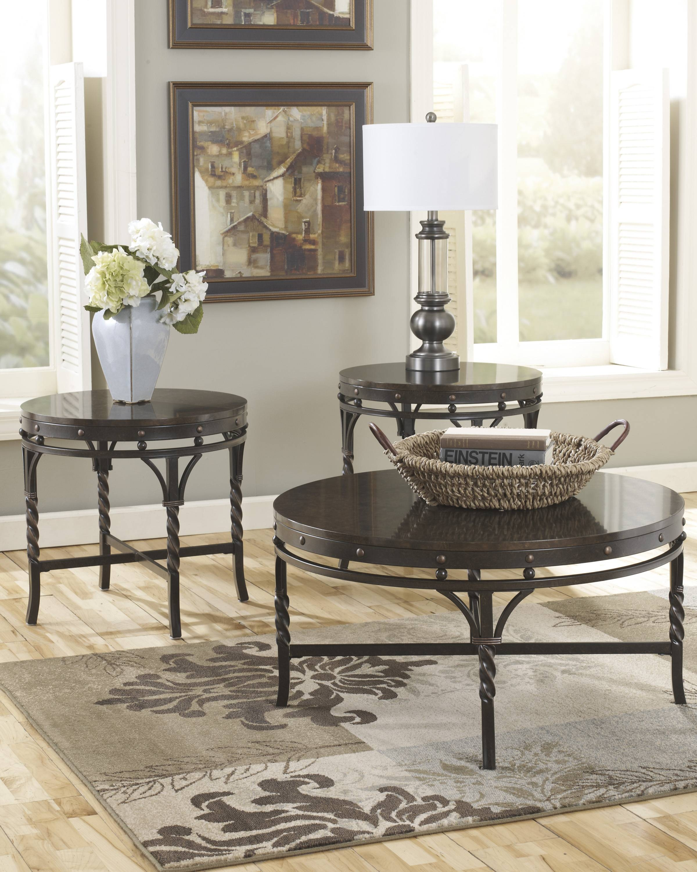 Marble-Stone-Top-Coffee-And-End-Tables within Round Slate Top Coffee Tables (Image 13 of 30)
