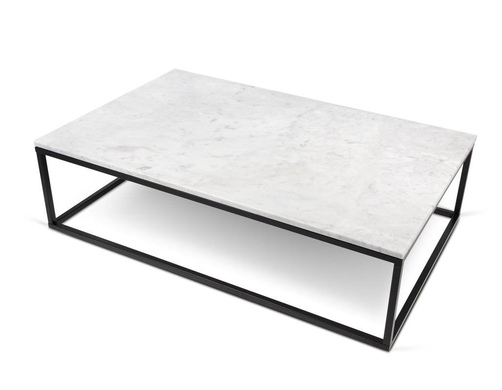 Marble/granite-Top Coffee Tables | Wayfair pertaining to Square White Coffee Tables (Image 20 of 30)