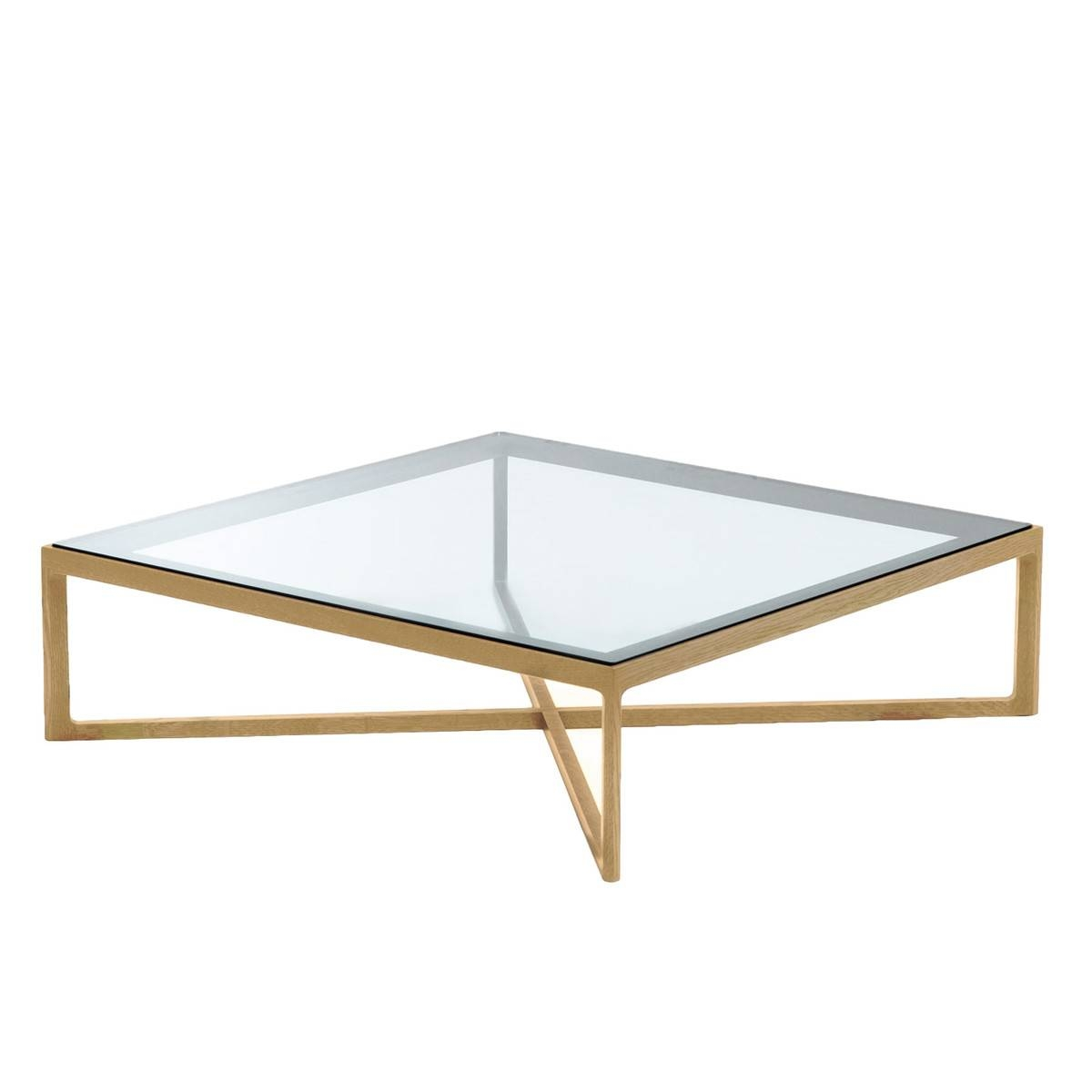 Marc Krusin Coffee Table | Knoll | Shop regarding Oak and Glass Coffee Tables (Image 21 of 30)
