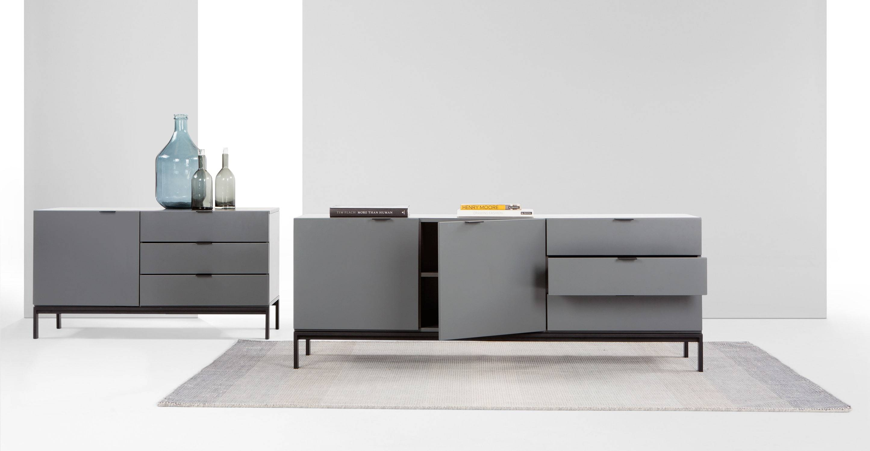 Marcell Sideboard, Grey | Made within Grey Sideboards (Image 13 of 30)