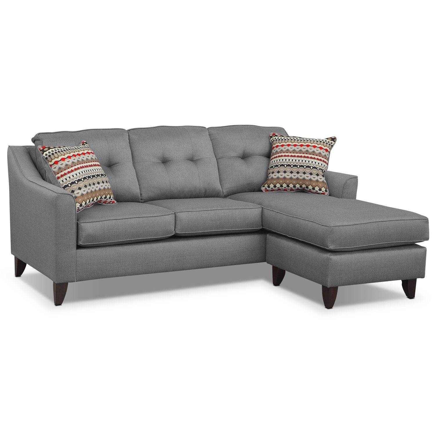 Marco Chaise Sofa And Chair Set – Gray | American Signature Furniture Within Sofa And Chair Set (View 20 of 30)