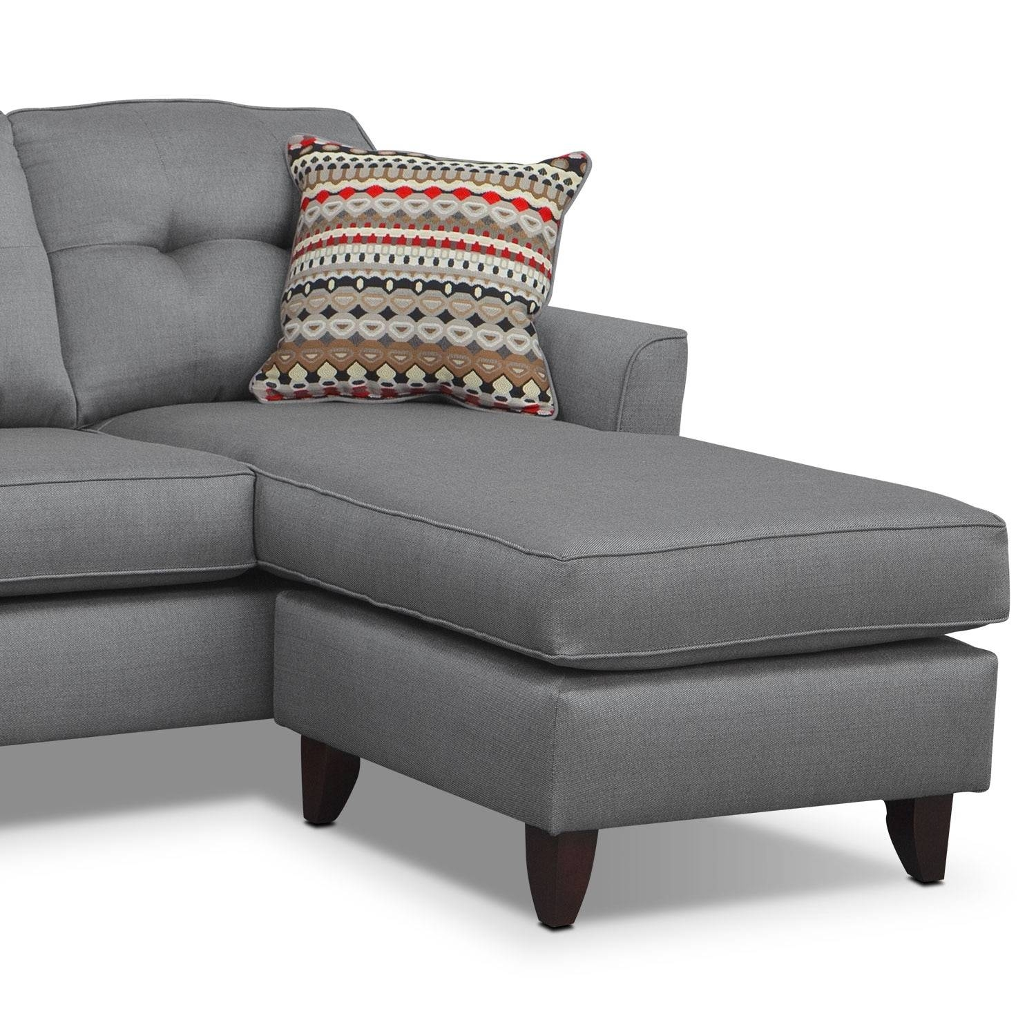 Marco Chaise Sofa - Gray | American Signature Furniture intended for Long Chaise Sofa (Image 15 of 25)