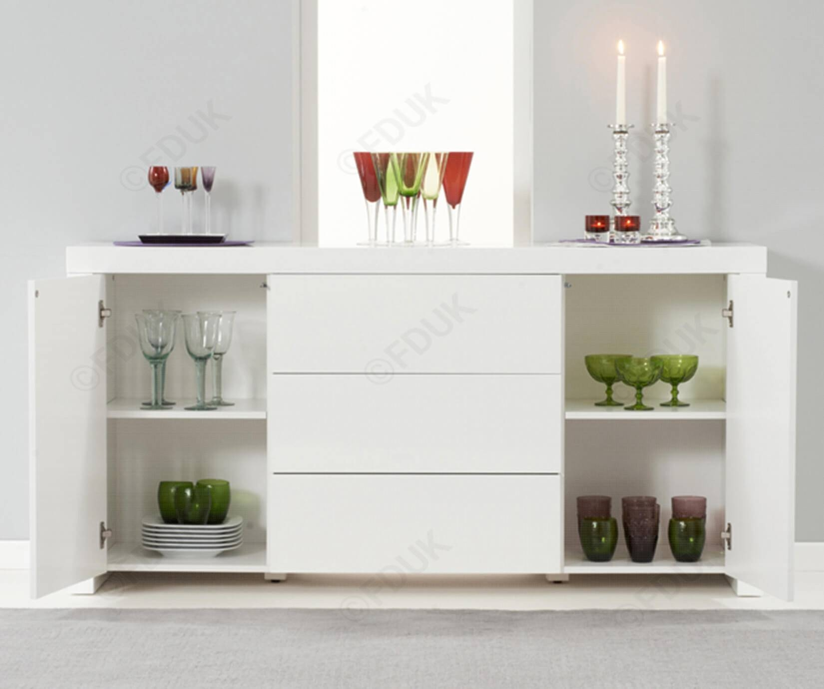 Mark Harris Hereford | Hereford White High Gloss Sideboard pertaining to High Gloss Sideboards (Image 20 of 30)