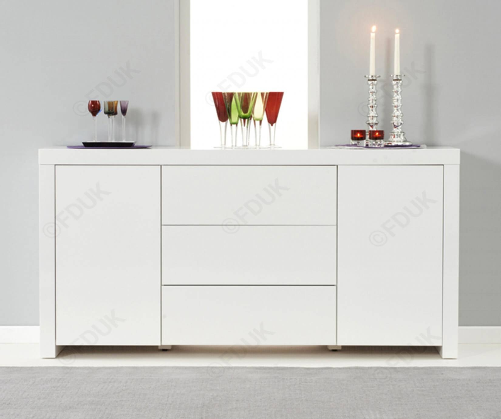Mark Harris Hereford | Hereford White High Gloss Sideboard pertaining to White High Gloss Sideboards (Image 18 of 30)