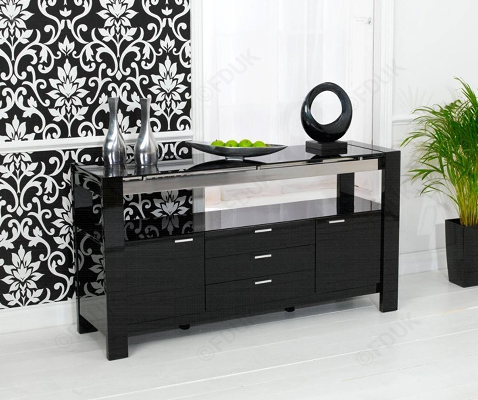 Mark Harris Sophia | Sophia High Gloss Sideboard throughout High Gloss Black Sideboards (Image 26 of 30)