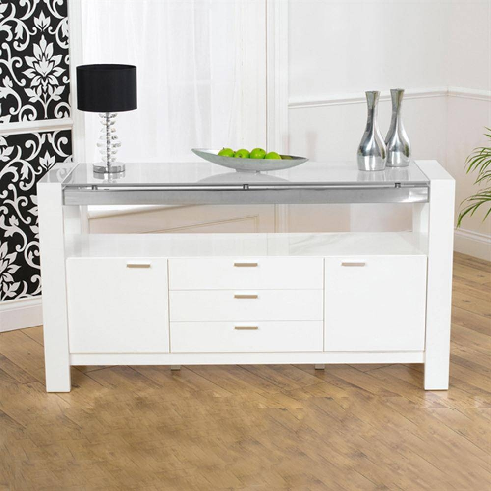 Mark Harris Sophia White High Gloss Sideboard | Internet Gardener intended for White High Gloss Sideboards (Image 19 of 30)