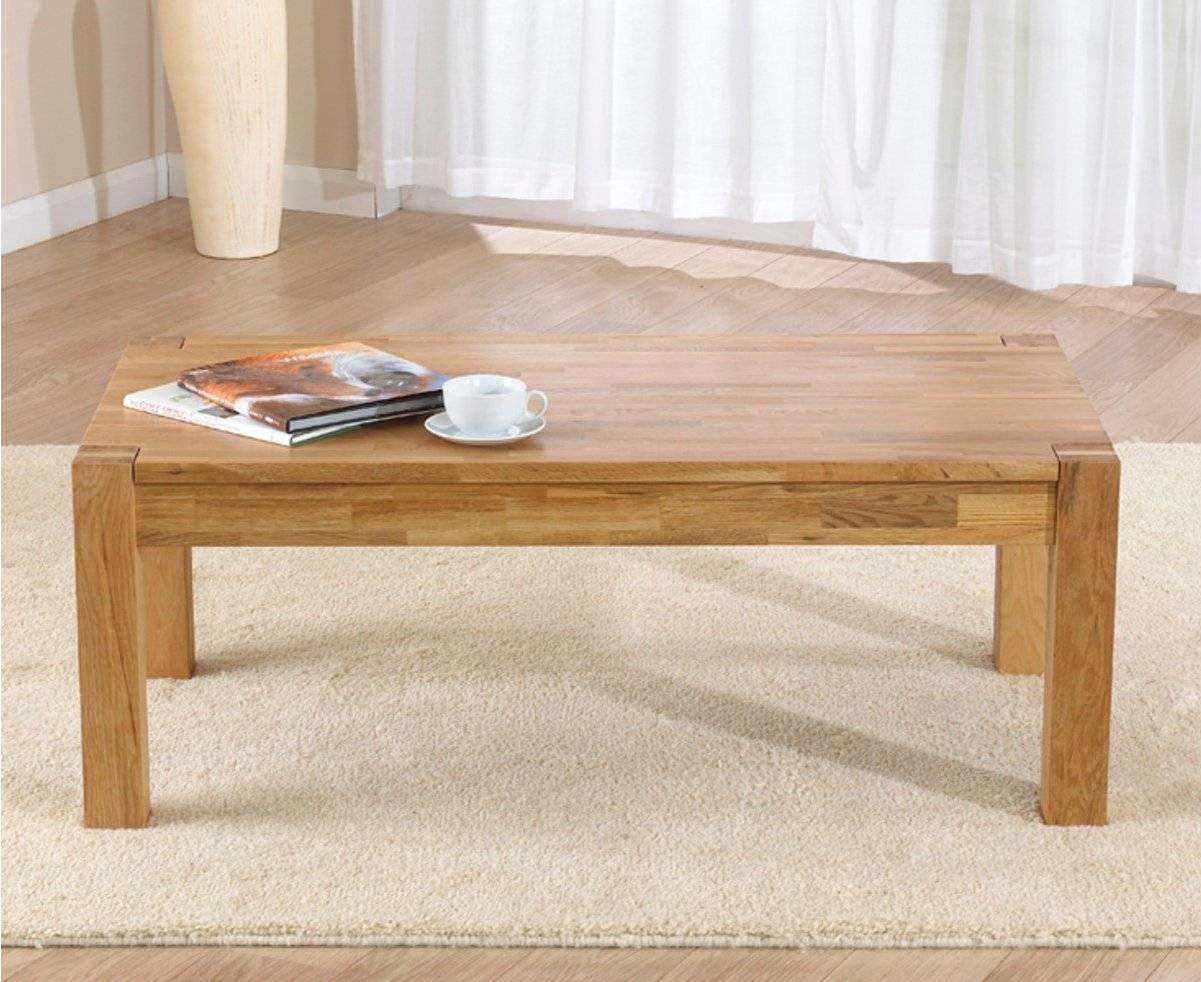 Mark Harris Verona Solid Oak Coffee Table regarding Verona Coffee Tables (Image 12 of 30)