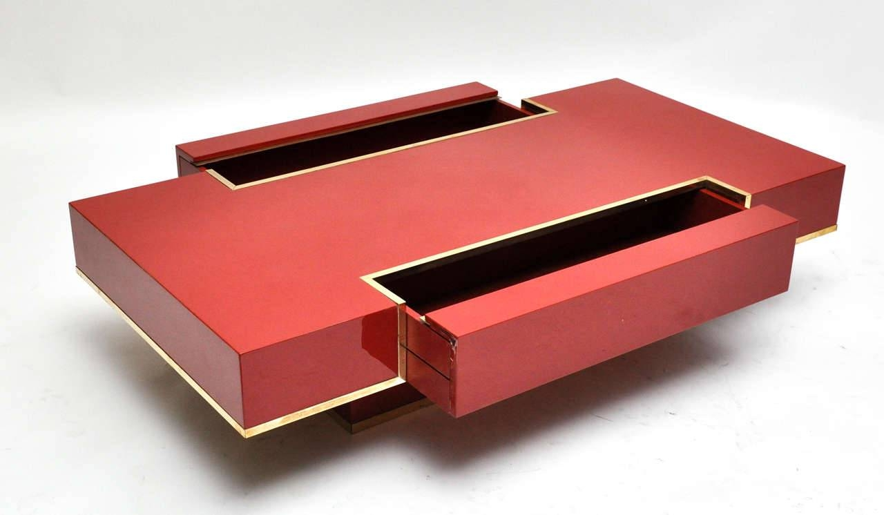 Markel Modern Red Coffee Table Eurway Furniture Trunk T / Thippo Intended  For Red Coffee Table