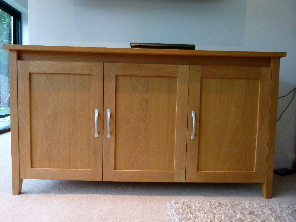 Marks And Spencer Detroit Light Oak 3 Door Sideboard 145Cmw X with Light Oak Sideboards (Image 9 of 30)