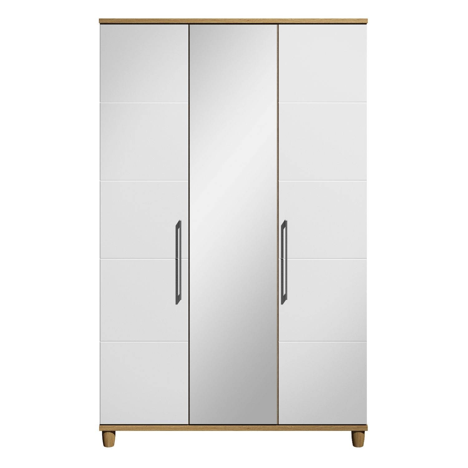 Marlena 3 Door Mirrored Wardrobe | Next Day - Select Day Delivery with regard to Three Door Mirrored Wardrobes (Image 11 of 15)