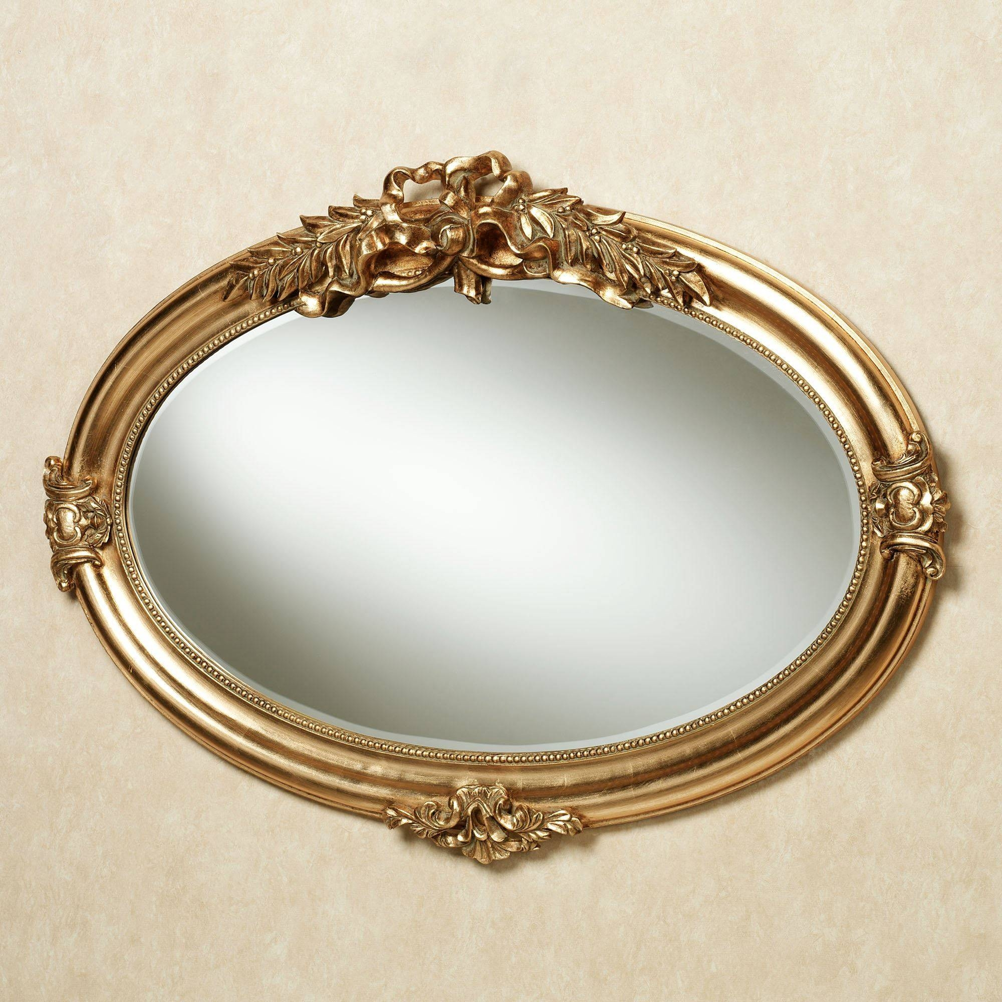 Marsciano Horizontal Oval Wall Mirror with regard to Small Gold Mirrors (Image 15 of 25)