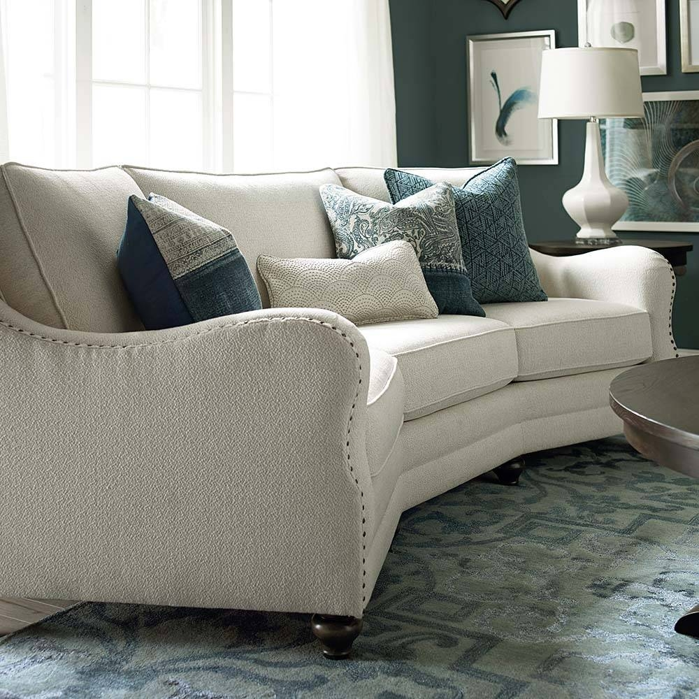 Marseille Conversation Sofa | Bassett Home Furnishings with Conversation Sofa Sectional (Image 21 of 30)