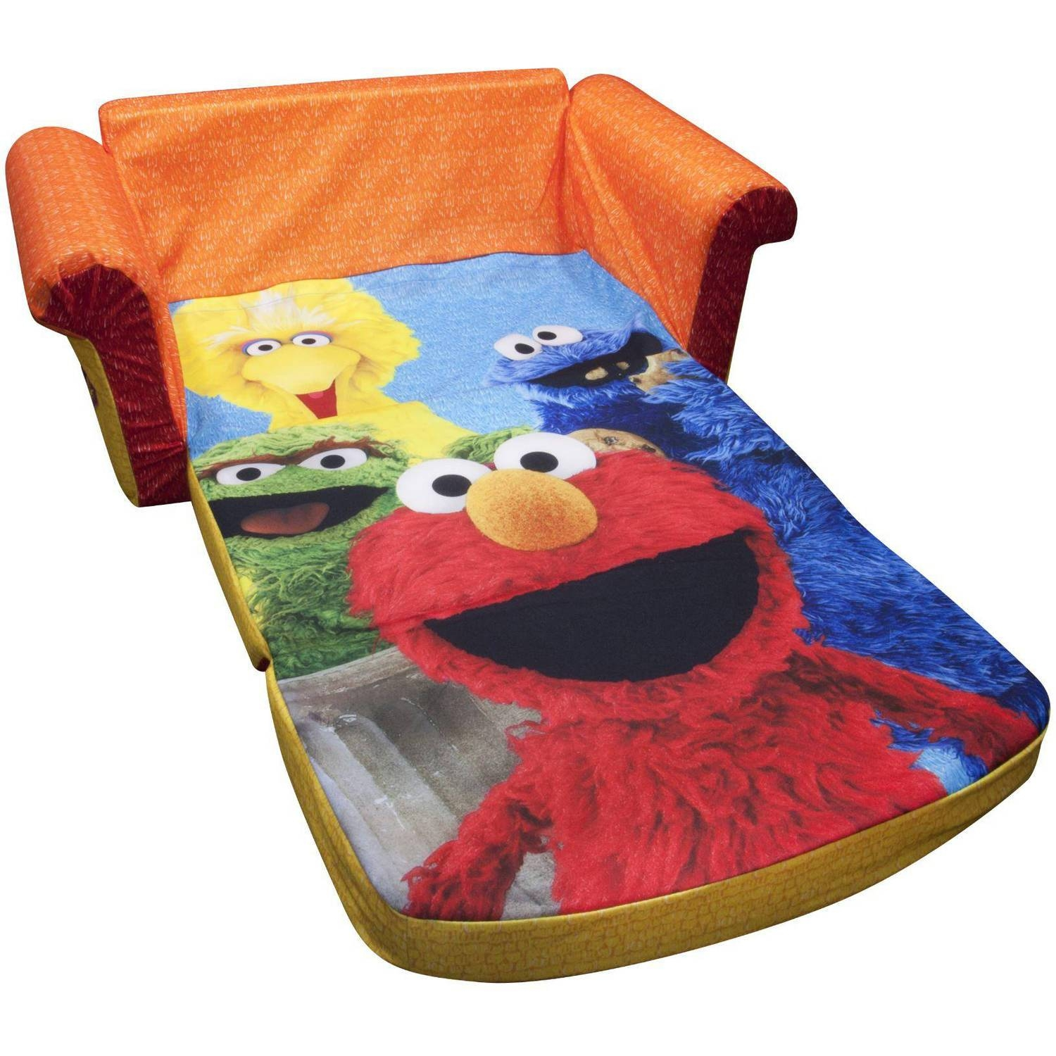 Marshmallow 2-In-1 Flip Open Sofa, Sesame Street's Elmo - Walmart pertaining to Flip Out Sofa Bed Toddlers (Image 14 of 30)