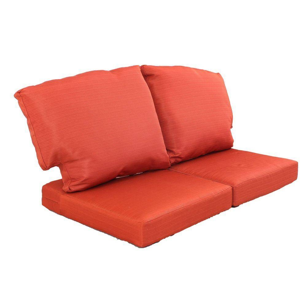 Martha Stewart Living Charlottetown Quarry Red Replacement Outdoor intended for Sofa Cushions (Image 21 of 30)