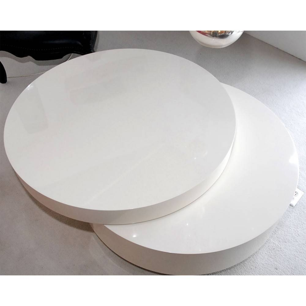 Marvelous Modern Storage Coffee Table Swivel White Awesome L131 for Round Swivel Coffee Tables (Image 18 of 30)
