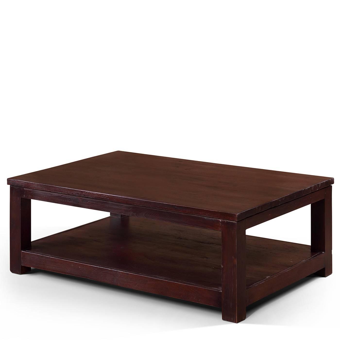 Masculine Dark Wood Coffee Table – Square Dark Wood Coffee Tables intended for Dark Mango Coffee Tables (Image 24 of 30)