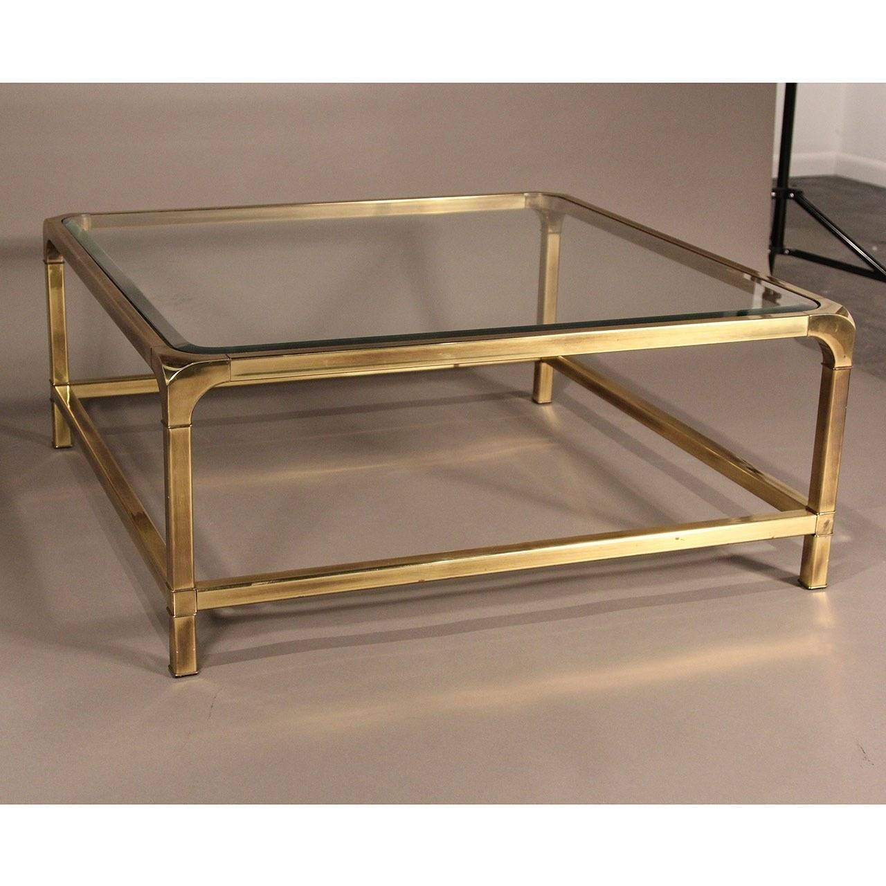 Mastercraft Brass And Glass Coffee Table At 1Stdibs regarding Antique Brass Glass Coffee Tables (Image 29 of 37)