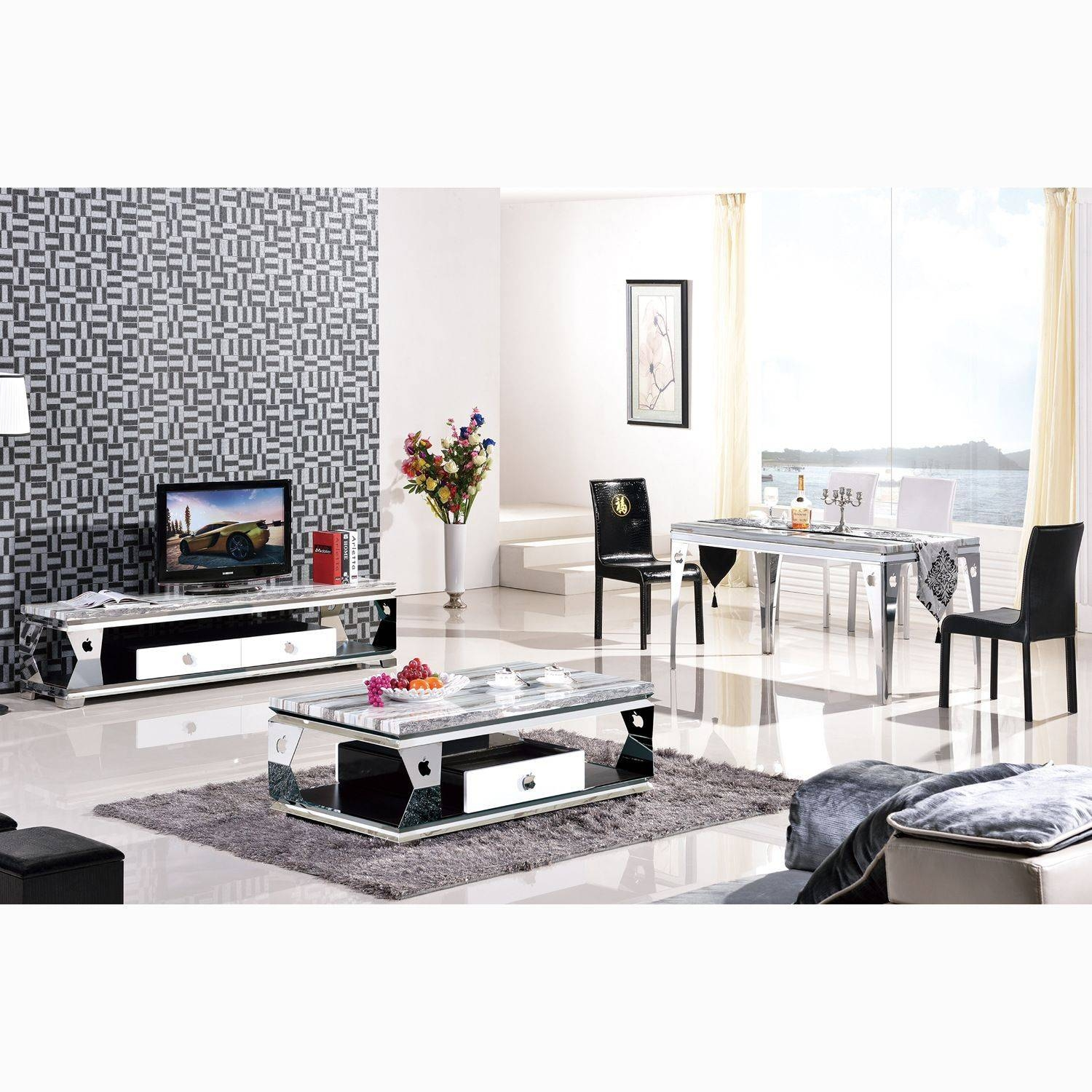 View gallery of matching tv unit and coffee tables showing 5 of matching white coffee table and tv stand coffee tables decoration regarding matching tv unit and geotapseo Gallery