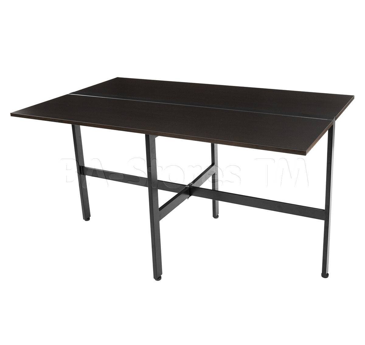 Matrix Imports Furniture Tokyo Folding Dining Table | Espresso inside Tokyo Coffee Tables (Image 12 of 30)