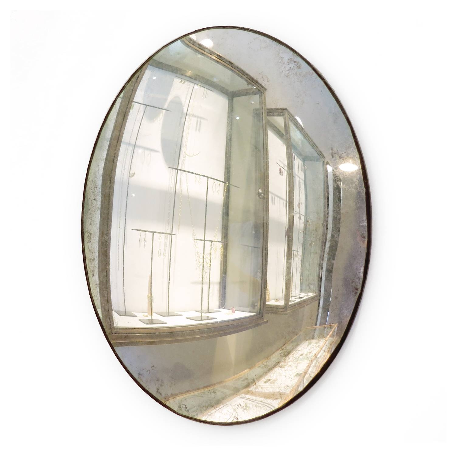 Maureen Fullam 16 X 20 Inches Large Convex Oval Silver Leafed pertaining to Large Oval Mirrors (Image 15 of 25)