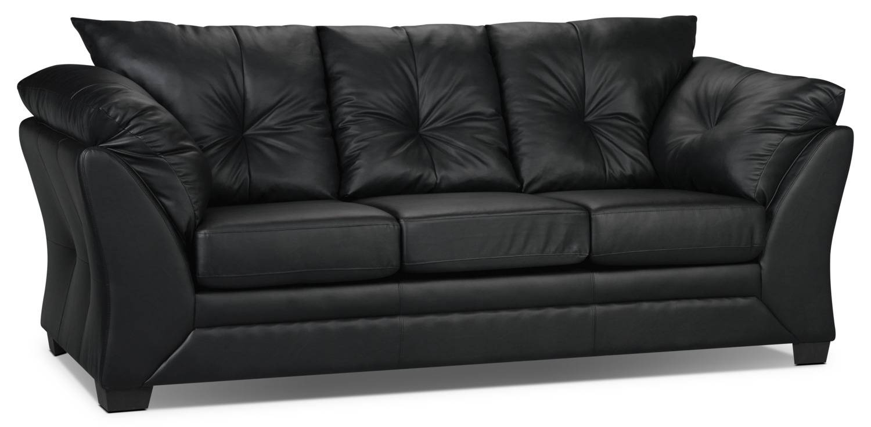 Max Faux Leather Sofa - Black | The Brick inside The Brick Leather Sofa (Image 15 of 30)