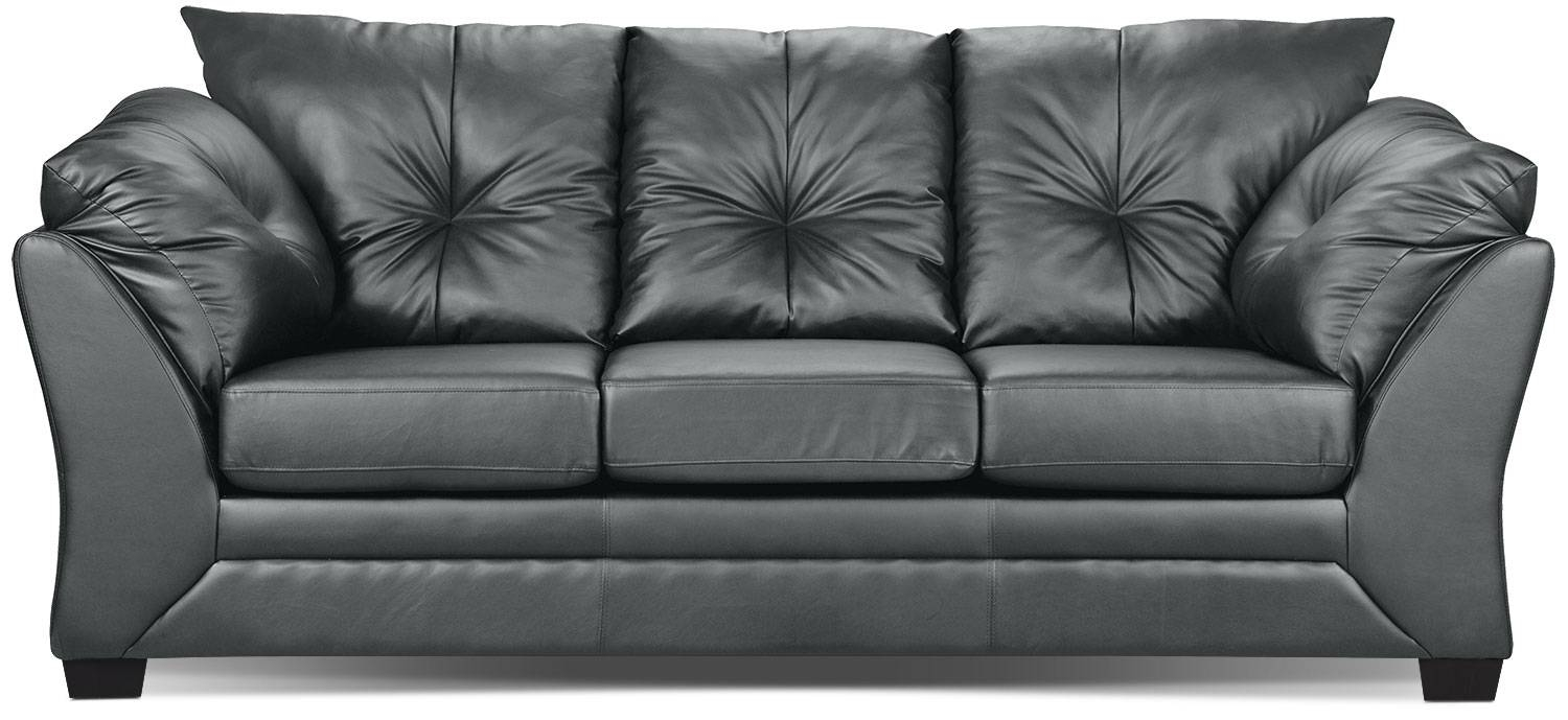 Max Faux Leather Sofa - Grey | The Brick in The Brick Leather Sofa (Image 16 of 30)