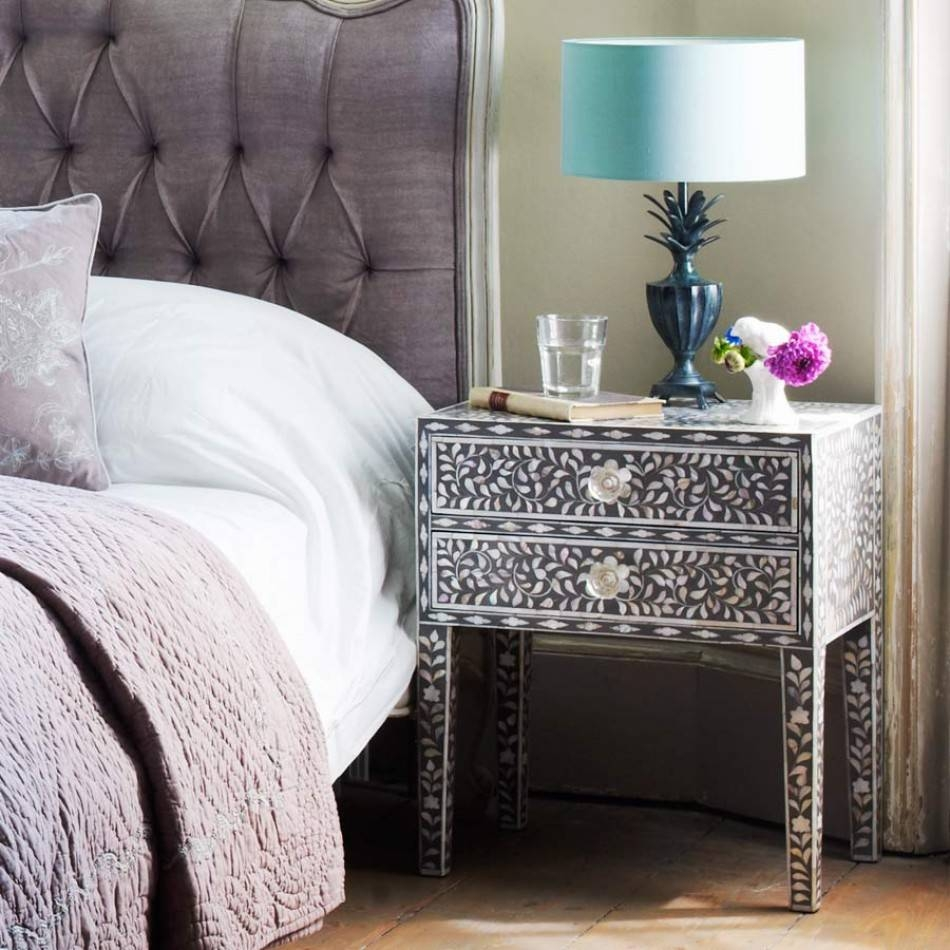 Maxi Mother Of Pearl Side Table In Grey | Graham & Green regarding Mother of Pearl Coffee Tables (Image 12 of 30)
