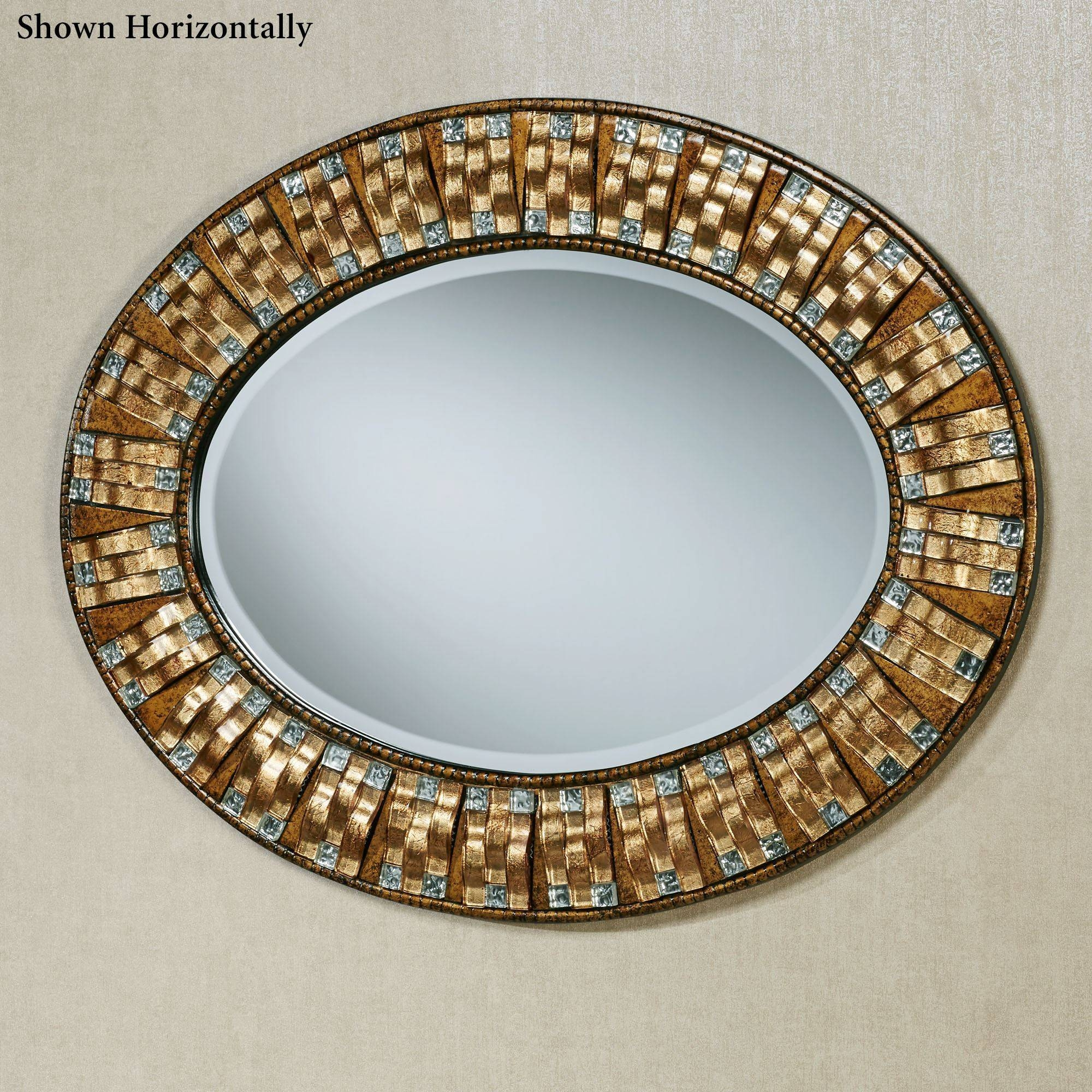 Maybelle Mosaic Oval Wall Mirror with Oval Wall Mirrors (Image 16 of 25)