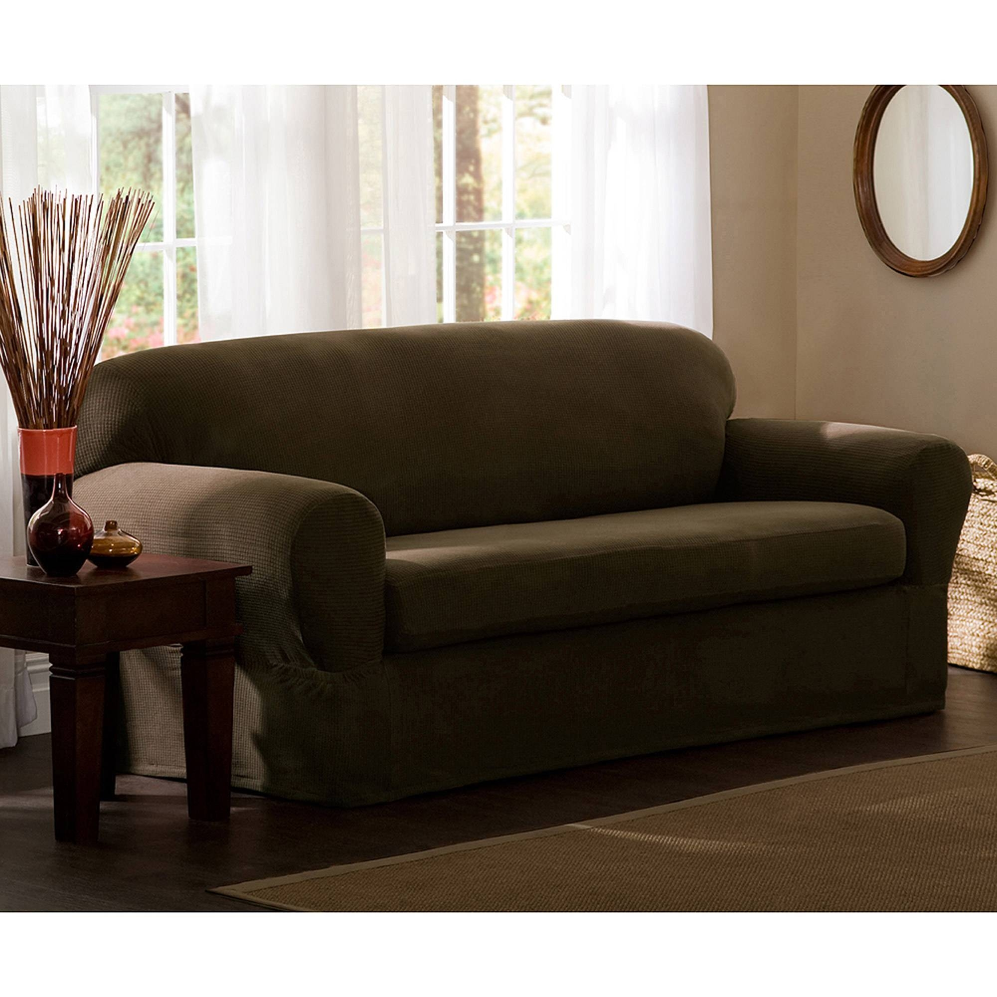 Maytex Reeves Polyester/spandex Loveseat Slipcover - Walmart throughout Sofa Loveseat Slipcovers (Image 21 of 30)