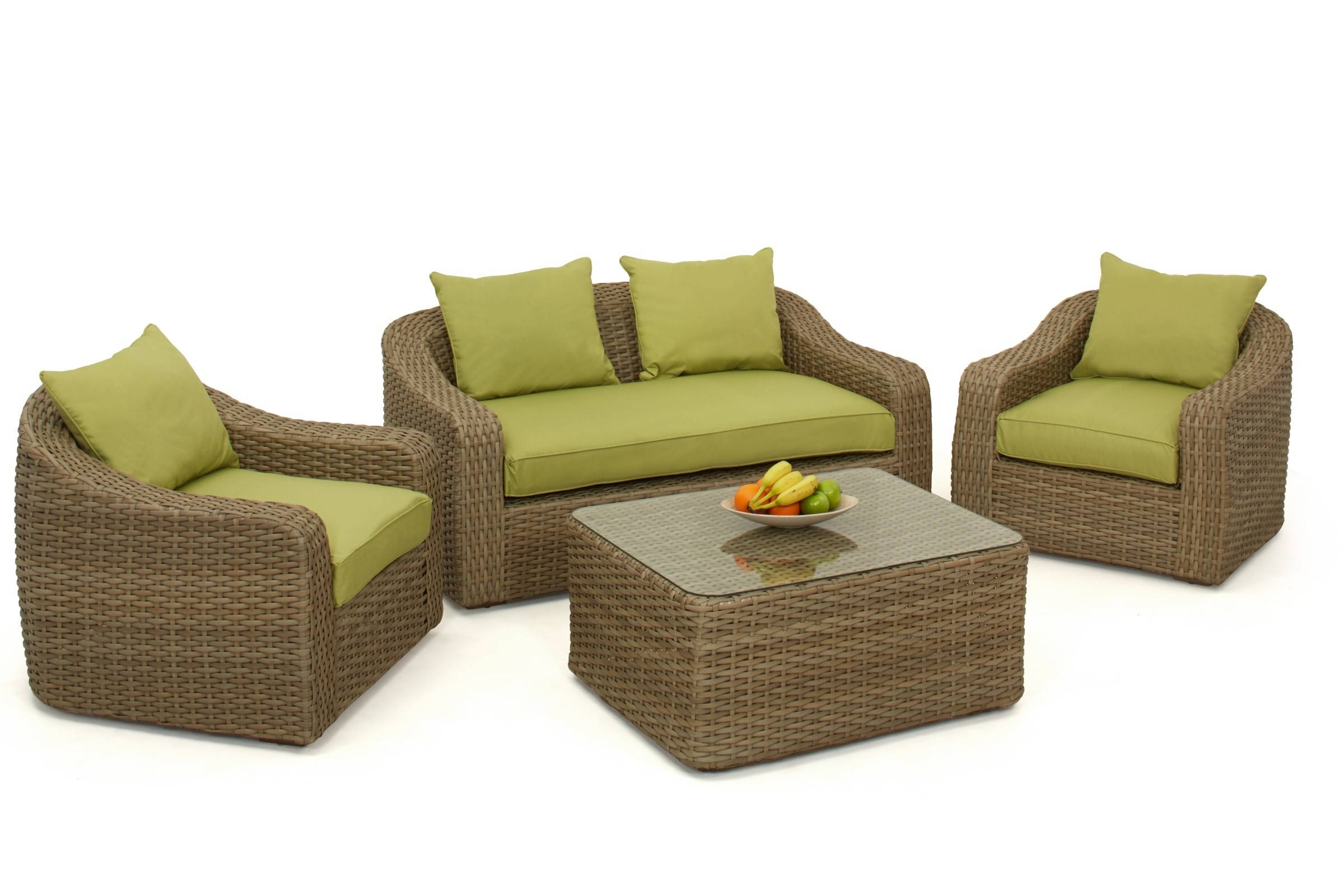 Maze Rattan Milan Rounded Sofa Set | Maze Living pertaining to Rounded Sofa (Image 12 of 25)