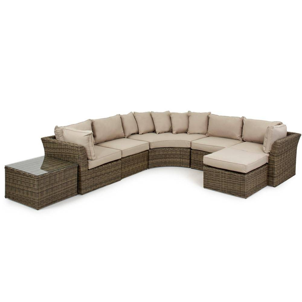 Maze Rattan Winchester Modular Rounded Corner Sofa Set | Internet intended for Rounded Sofa (Image 14 of 25)