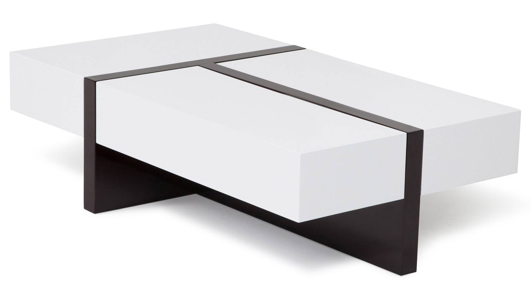 Mcintosh High Gloss Coffee Table With Storage - White Rectangle regarding Gloss Coffee Tables (Image 20 of 30)