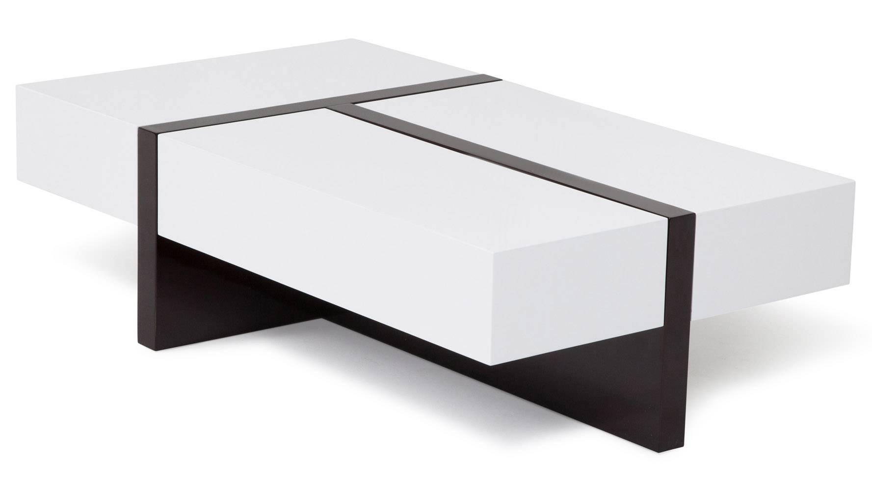 Mcintosh High Gloss Coffee Table With Storage - White Rectangle with High Gloss Coffee Tables (Image 16 of 30)