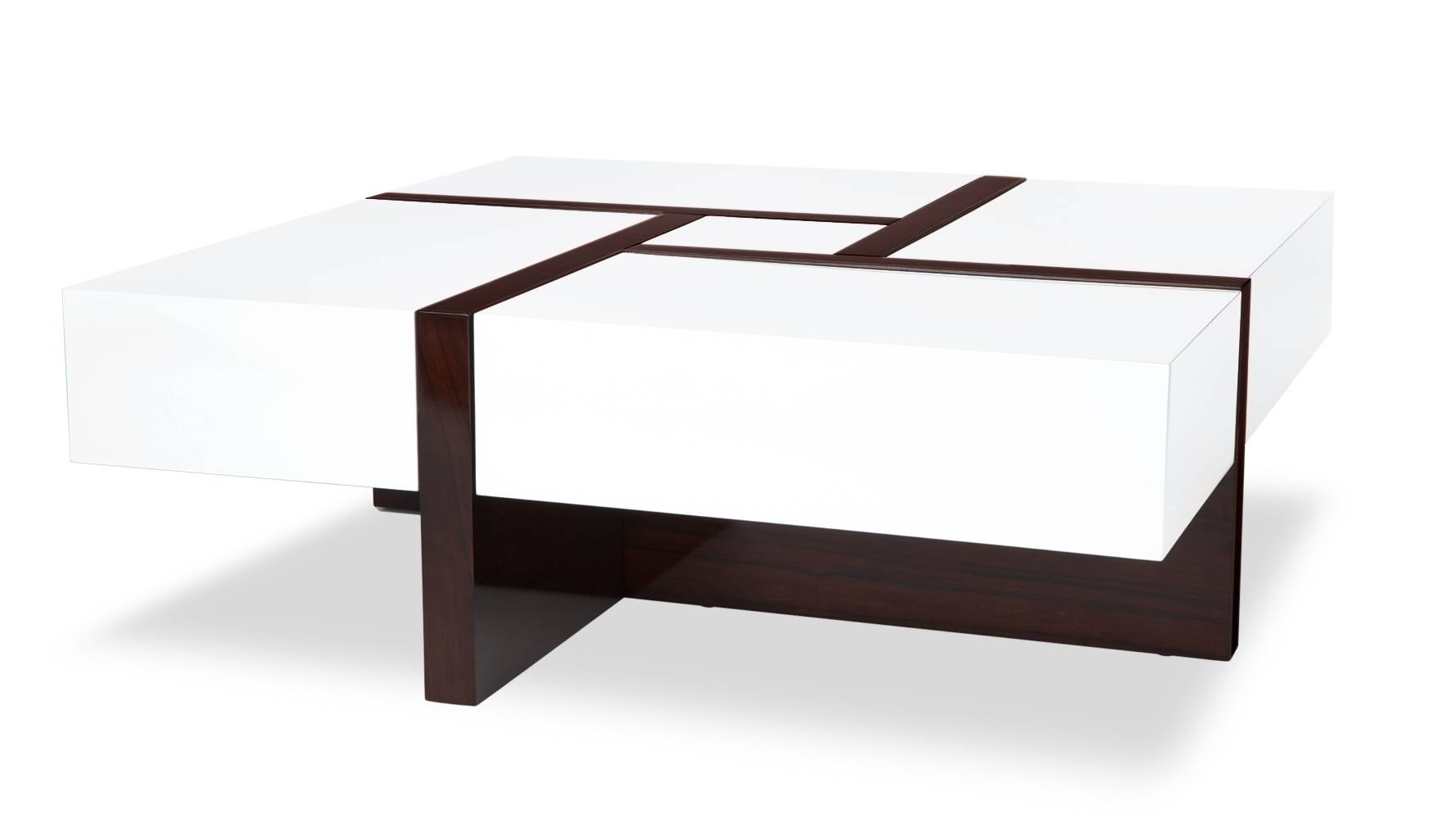 Mcintosh High Gloss Coffee Table With Storage - White Square for High Gloss Coffee Tables (Image 18 of 30)