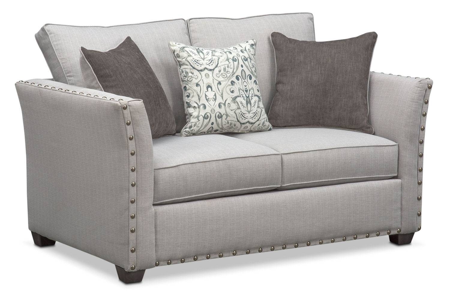 Mckenna Sofa, Loveseat And Accent Chair Set – Pewter | Value City Regarding Sofa Loveseat And Chair Set (View 18 of 30)