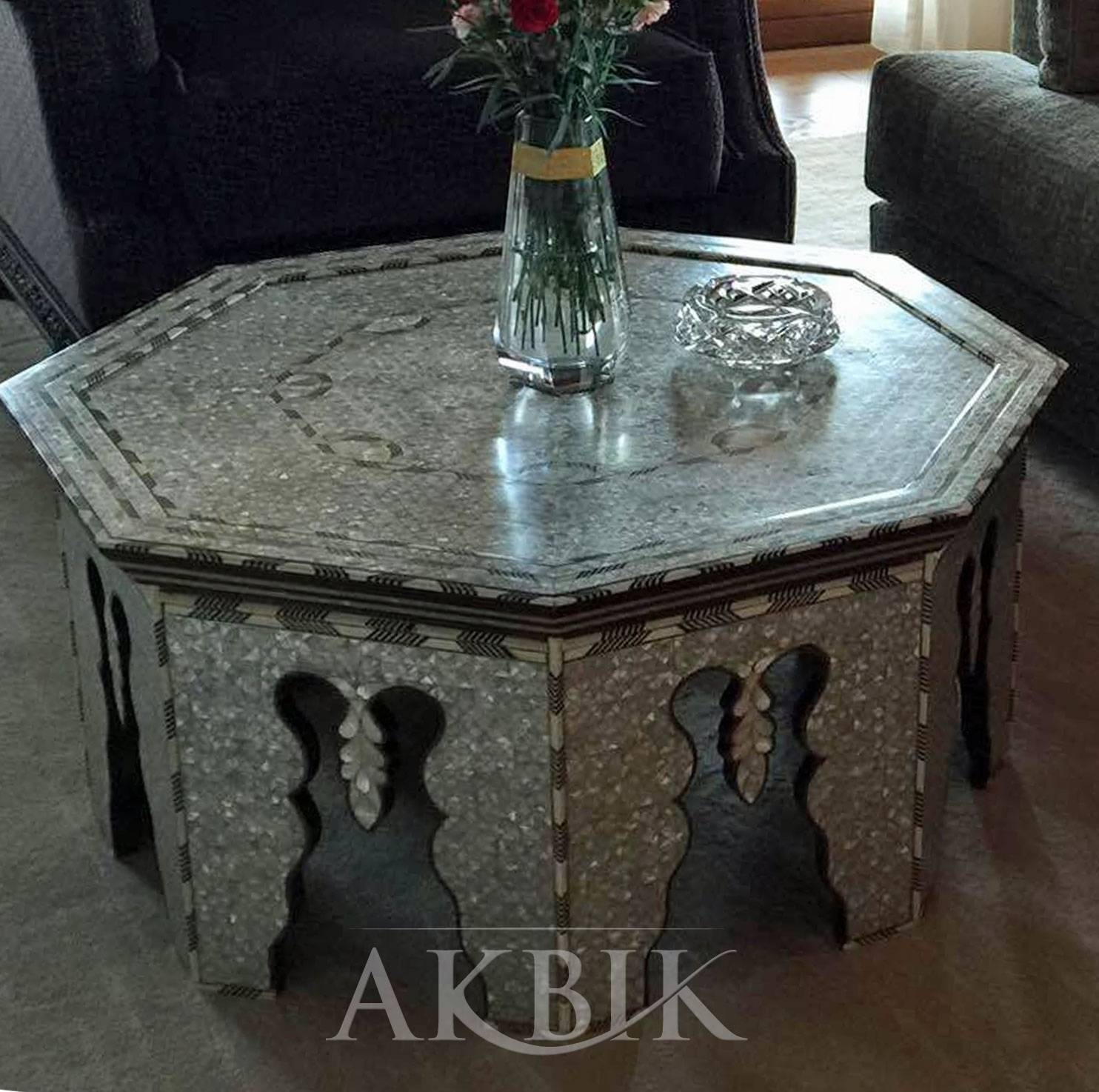 Mediterranean, Levantine & Syrian Furniture Inlaid With Mother Of for Mother of Pearl Coffee Tables (Image 14 of 30)