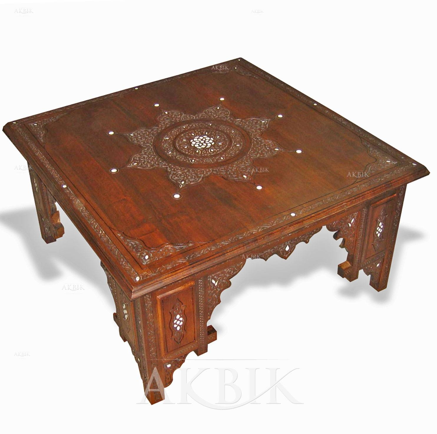 Mediterranean, Levantine & Syrian Furniture Inlaid With Mother Of for Mother of Pearl Coffee Tables (Image 15 of 30)