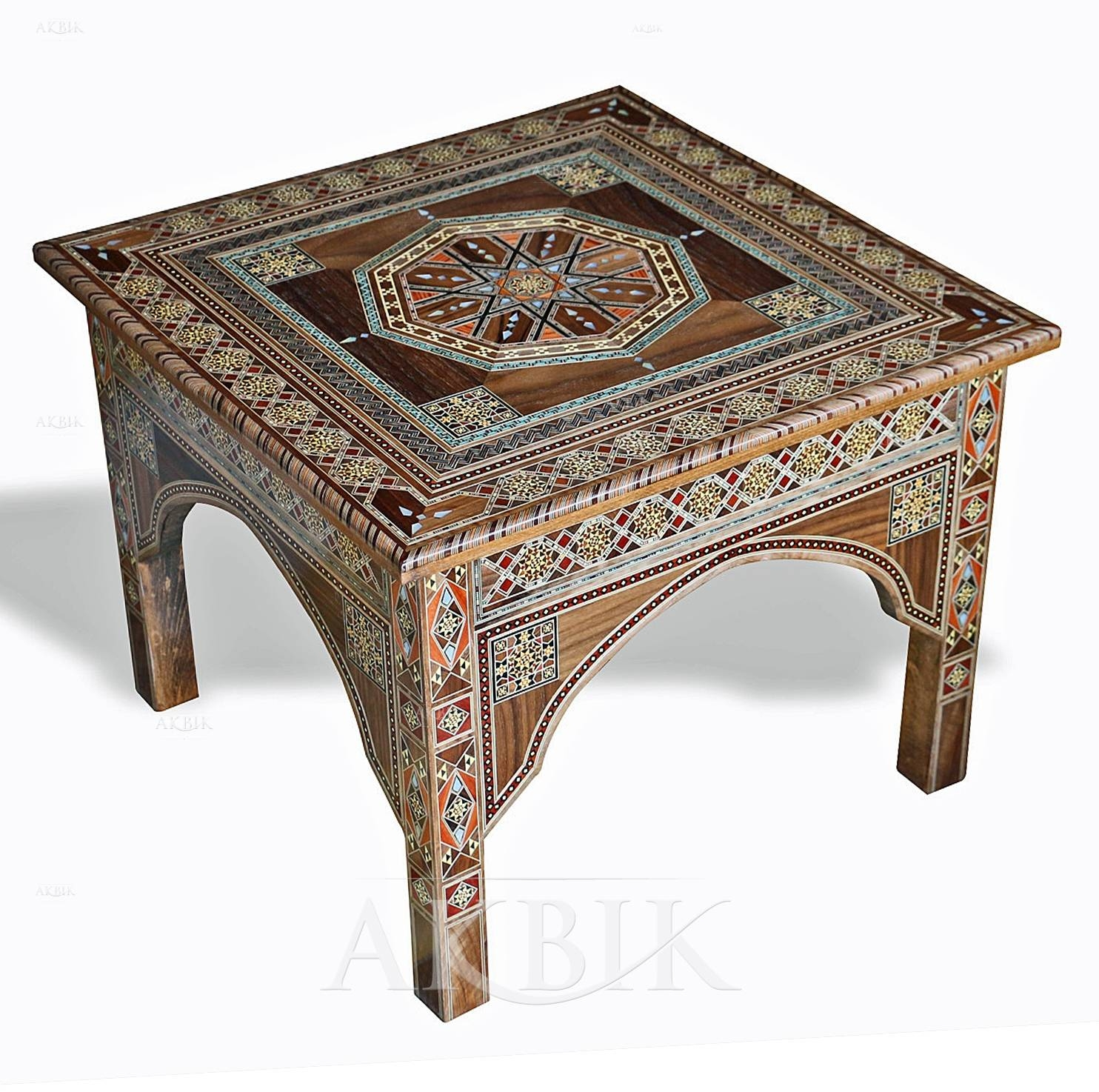 Mediterranean, Levantine & Syrian Furniture Inlaid With Mother Of for Mother Of Pearl Coffee Tables (Image 13 of 30)
