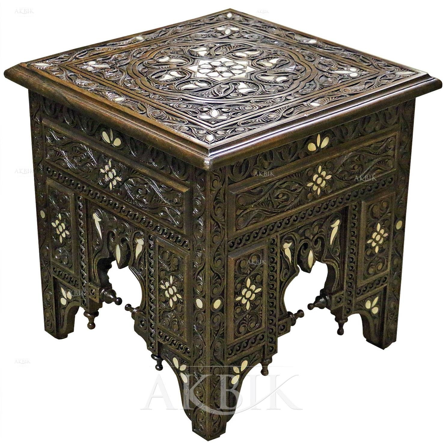 Mediterranean, Levantine & Syrian Furniture Inlaid With Mother Of in Mother Of Pearl Coffee Tables (Image 16 of 30)